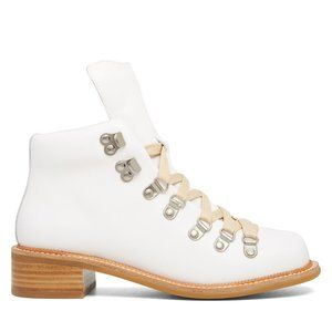 New Jeffrey Campbell White Leather Boots WMN 8.5